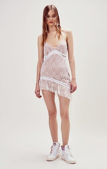 Bright Lights Mini Dress Tirantes White