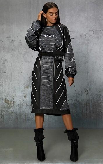 ALIEN LONG SWEATSHIRT DRESS