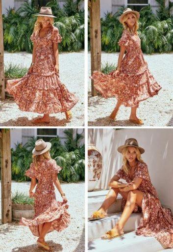CORELLA PRINT MAXI DRESS