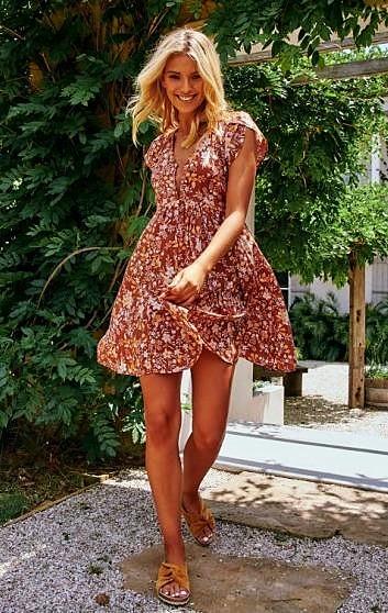 CORELLA PRINT FINCH DRESS